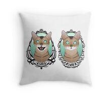 Dual Crests Throw Pillow