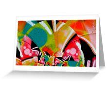 graffiti colour splash  Greeting Card