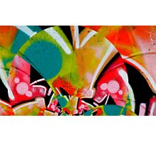 graffiti colour splash  Photographic Print