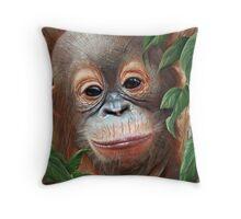 """In Respect of the Orangutan"" Throw Pillow"