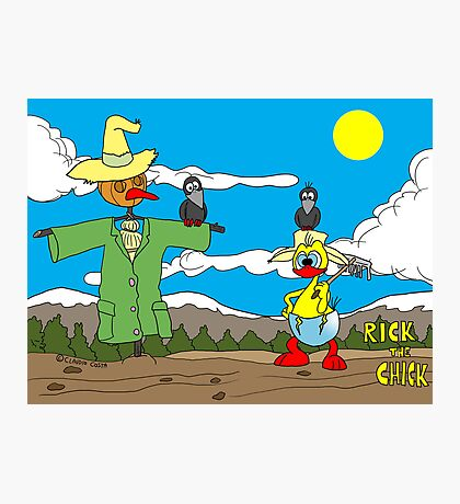 """Rick the chick """"SCARECROW"""" Photographic Print"""