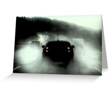Heavy rain to Munich Greeting Card