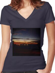 City Road Women's Fitted V-Neck T-Shirt