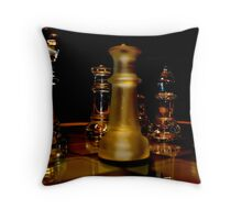 Whisky Chess Throw Pillow