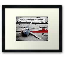 You Know I Love You Babe Framed Print