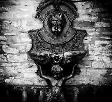 Cherub font - Bourton On The Water, Cotswolds by Rich James