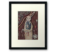 chaising rabbit Framed Print