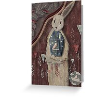 chaising rabbit Greeting Card