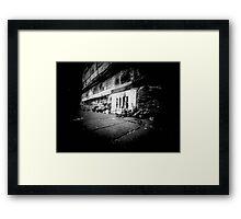 Grate pinhole Framed Print