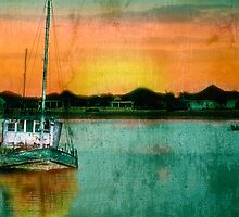 Sunset Ship by DeerPhotoArts