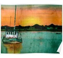 Sunset Ship Poster