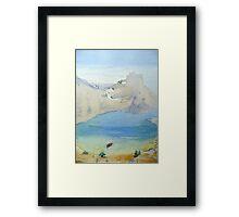 St Paul's Bay, Lindos, Rhodes Framed Print