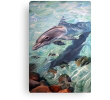 """""""Inquisitive - The Bottlenose Dolphin"""" Canvas Print"""