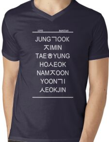 love bangtan /black Mens V-Neck T-Shirt