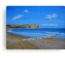 Swanage Beach Canvas Print