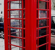 Red Telephone Box  by PeopleInMyHead