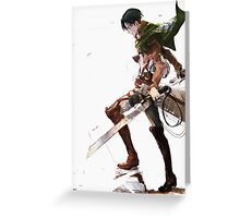 Attack On Titan - Levi Ackerman Greeting Card
