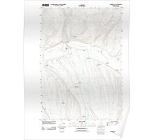 USGS Topo Map Oregon Prairie City 20110822 TM Poster