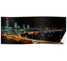 Perth city Lights War Memorial Lookout 2 Poster