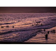 Santa Monica Surf Sunset Photographic Print