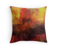 The Lost Ship II Throw Pillow