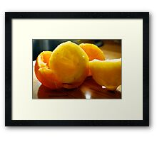 Home Made OrangeAde Framed Print