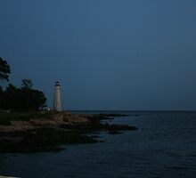 Irony=Last daylight on retired lighthouse  by KDskier