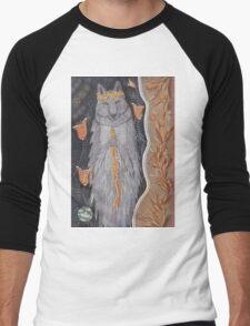 Wolf and flower crown Men's Baseball ¾ T-Shirt