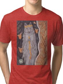 Wolf and flower crown Tri-blend T-Shirt