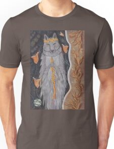 Wolf and flower crown Unisex T-Shirt