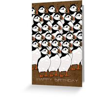 Puffin Birthday Card Greeting Card
