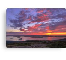 Summer Sunrise, Cadillac Mountain Canvas Print