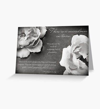 Sacredness In Tears Greeting Card