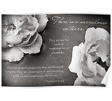 Sacredness In Tears Poster