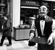 The creepy waiter by beanocartoonist