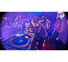 Turntablist Qbert in Houston TX Photographic Print