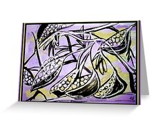 Seed Pods Mixed Media Painting  Greeting Card