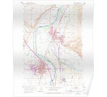 USGS Topo Map Idaho Payette 237584 1951 24000 Poster