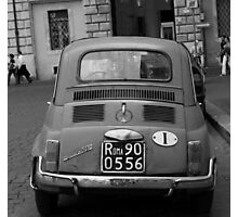 Fiat in Rome Photographic Print