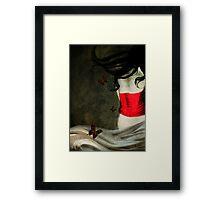 Corset Rojo y Mariposas Framed Print