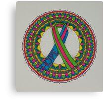 Mandala for Metastatic Breast Cancer Canvas Print