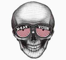 Stack's Skull Sunday No. 1 (X-Ray Vision) One Piece - Short Sleeve