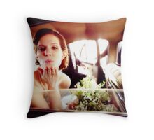 The Kiss Goodbye Throw Pillow