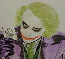 Heath Ledger as THE JOKER  1979 to 2008 by CapricornDancer