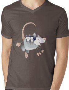 opossum mom with cubs Mens V-Neck T-Shirt