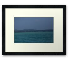 Glen Lake Blues Framed Print