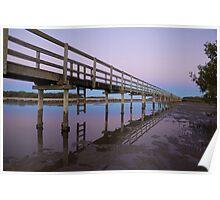Evening Boardwalk - Urunga, NSW Poster