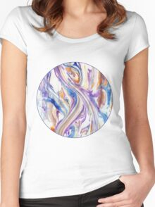 Abstract Swirls and Whirls Women's Fitted Scoop T-Shirt