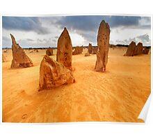 Nambung National Park Pinnacles Sunset 1 Poster