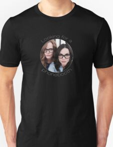 Lana and Bex - Looking for a Phone Booth (Light text) T-Shirt